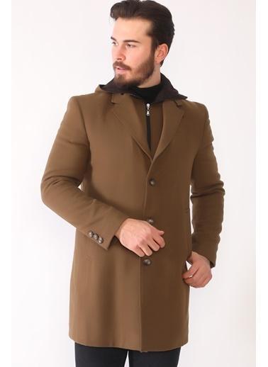 Dewberry Yünlü Ve Polyesterli Düğmeli Erkek Palto Camel